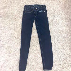American Eagle Dark Wash Skinny Jeans Sz 00
